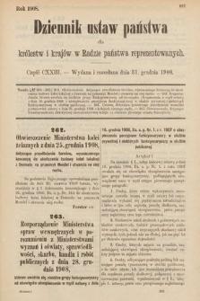 Dziennik Ustaw Państwa dla Królestw i Krajów w Radzie Państwa Reprezentowanych. 1908, cz.123