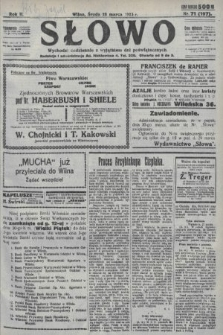 Słowo. 1923, nr71