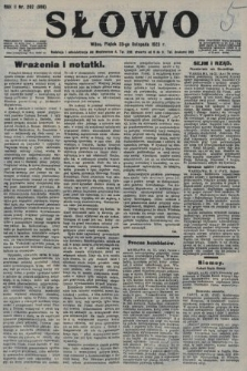 Słowo. 1923, nr262