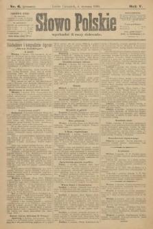 Słowo Polskie (wydanie poranne). 1900, nr6