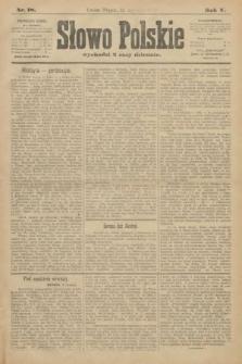 Słowo Polskie. 1900, nr18