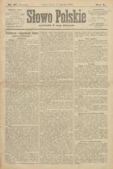 Słowo Polskie (wydanie poranne). 1900, nr27