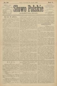 Słowo Polskie. 1900, nr28