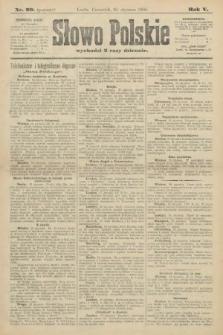 Słowo Polskie (wydanie poranne). 1900, nr29