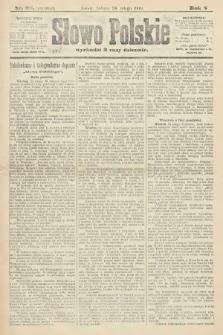 Słowo Polskie (wydanie poranne). 1900, nr92