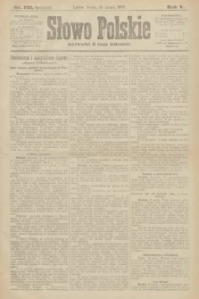 Słowo Polskie (wydanie poranne). 1900, nr122