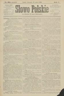 Słowo Polskie (wydanie poranne). 1900, nr136