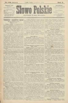 Słowo Polskie (wydanie poranne). 1900, nr158