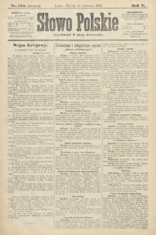 Słowo Polskie (wydanie poranne). 1900, nr168