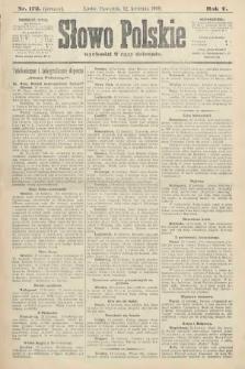 Słowo Polskie (wydanie poranne). 1900, nr172