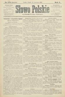Słowo Polskie (wydanie poranne). 1900, nr174