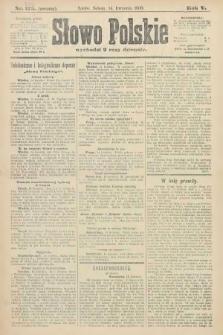 Słowo Polskie (wydanie poranne). 1900, nr176