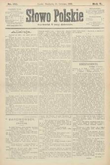 Słowo Polskie. 1900, nr177