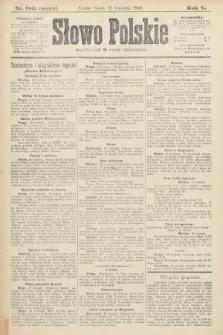 Słowo Polskie (wydanie poranne). 1900, nr180