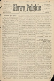 Słowo Polskie (wydanie poranne). 1900, nr198