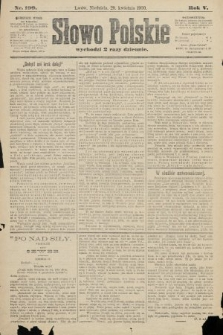 Słowo Polskie. 1900, nr199