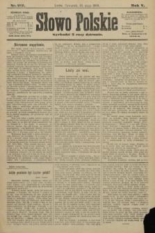 Słowo Polskie. 1900, nr217
