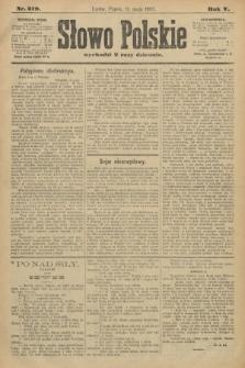 Słowo Polskie. 1900, nr219