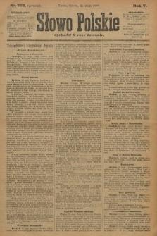 Słowo Polskie (wydanie poranne). 1900, nr222
