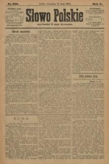 Słowo Polskie. 1900, nr229