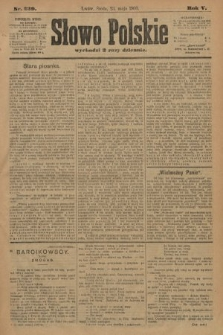 Słowo Polskie. 1900, nr239