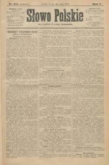 Słowo Polskie (wydanie poranne). 1900, nr251