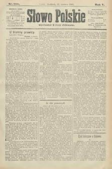 Słowo Polskie. 1900, nr268