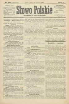 Słowo Polskie (wydanie poranne). 1900, nr273
