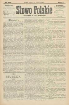 Słowo Polskie. 1900, nr287