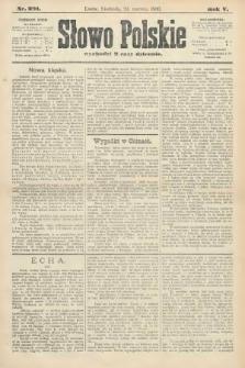 Słowo Polskie. 1900, nr291
