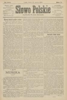 Słowo Polskie. 1900, nr295