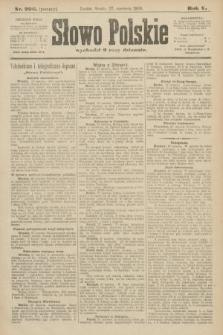 Słowo Polskie (wydanie poranne). 1900, nr296