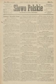 Słowo Polskie (wydanie poranne). 1900, nr298