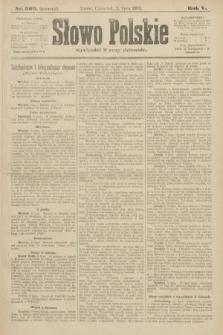 Słowo Polskie (wydanie poranne). 1900, nr309