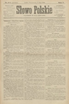 Słowo Polskie (wydanie poranne). 1900, nr315