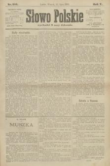 Słowo Polskie. 1900, nr316