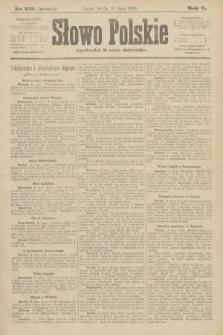 Słowo Polskie (wydanie poranne). 1900, nr319