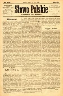Słowo Polskie. 1900, nr342