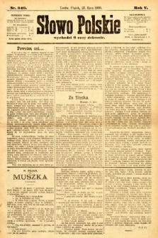 Słowo Polskie. 1900, nr346