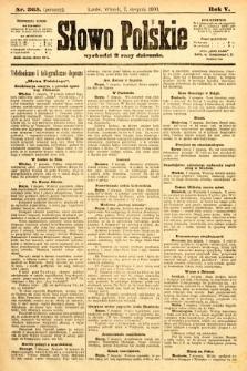Słowo Polskie (wydanie poranne). 1900, nr365
