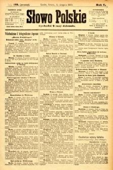 Słowo Polskie (wydanie poranne). 1900, nr373