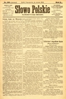 Słowo Polskie (wydanie poranne). 1900, nr375