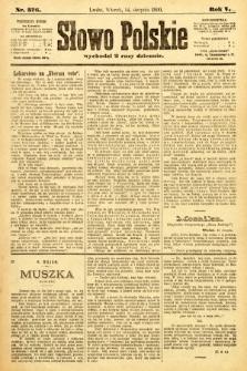 Słowo Polskie. 1900, nr376