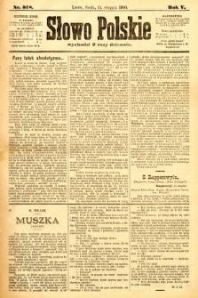 Słowo Polskie. 1900, nr378