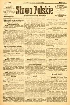 Słowo Polskie. 1900, nr379