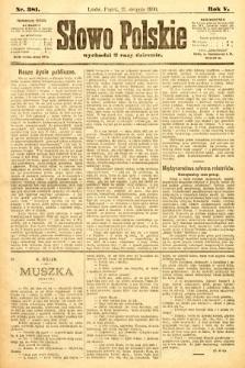 Słowo Polskie. 1900, nr381