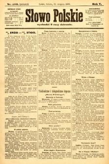 Słowo Polskie (wydanie poranne). 1900, nr384