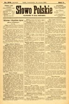 Słowo Polskie (wydanie poranne). 1900, nr386