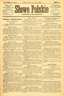Słowo Polskie (wydanie poranne). 1900, nr388