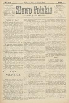 Słowo Polskie. 1900, nr391